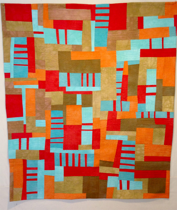 Geometric quilt by Anne Hammond