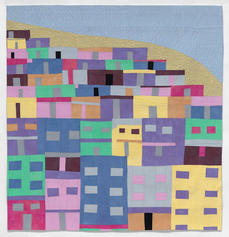Architectural quilt by Anne Hammond