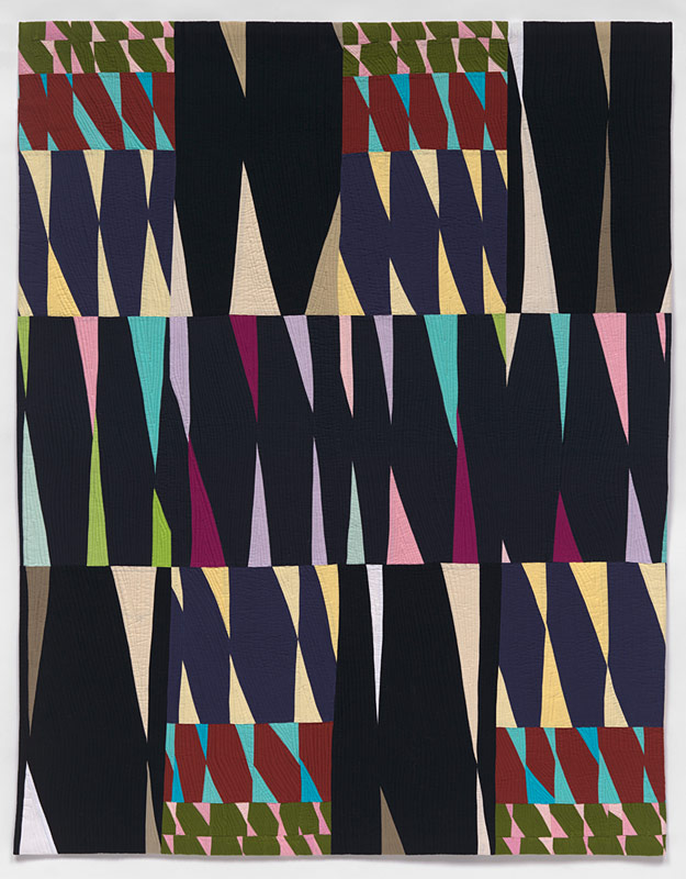 Harlequin - contemporary quilt by Anne Hammond