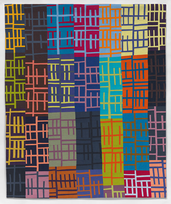 Lines Of Communications #4- contemporary quilt by Anne Hammond