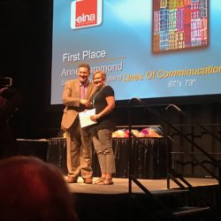 Winning Quilt in Houston 2017: Lines of communication#7